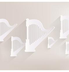Harp icon msic instruments vector