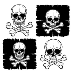 Set of skull and crossbones vector