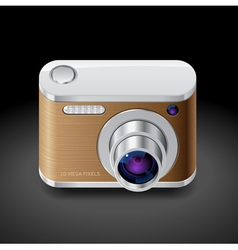 Icon for compact photo camera vector