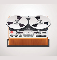 Reel-to-reel recorder icon vector