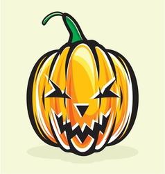 Holiday pumpkin jack lantern vector