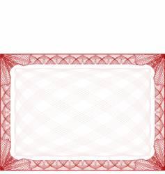 Certificate border vector