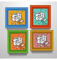 Frames with comic book explosion on pictures vector
