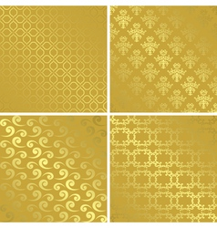 Gold patterns with gradient - set vector