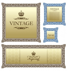 Vintage frame decor ornament vector