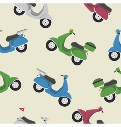 Retro vintage seamless scooter pattern vector