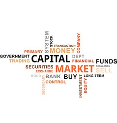 Word cloud capital market vector