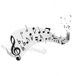 Musical staff theme vector
