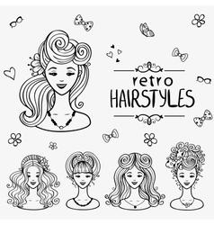 Hairstyles black vector