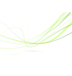 Abstract green swoosh lines background editable vector