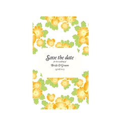 Save the date wedding invite card template vector