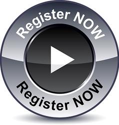 Register now round button vector