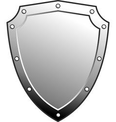 Metal heraldic shield vector