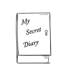 Private diary vector