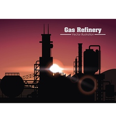 Gas refinery design vector