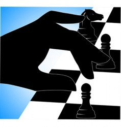Chess play vector