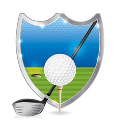 Golf badge emblem vector