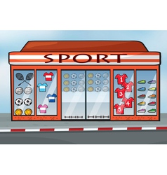 A sports store vector