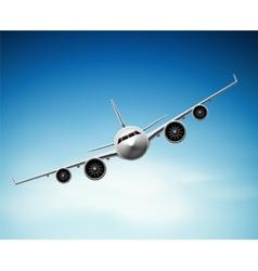 Passenger airplane vector