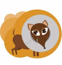 Dog with collar vector