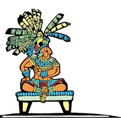 Mayan king vector