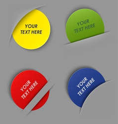 Set of colorful round labels in your pocket vector