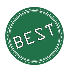 Best icon badge label or sticke vector