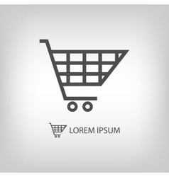 Grey shopping cart vector