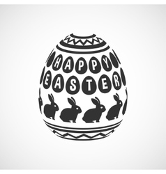 Black and white decorative egg vector