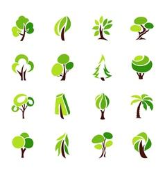 Trees - logo template set vector