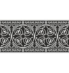Gothic floral border vector