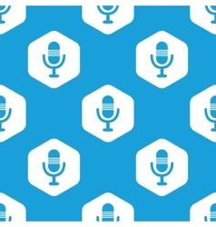 Microphone hexagon pattern vector
