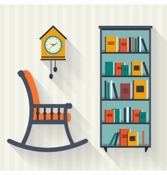 Book shelf vector