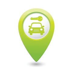 Parking symbol map pointer green vector