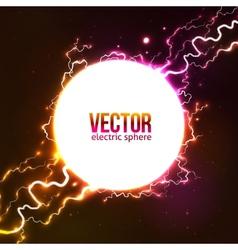 White plasma fireball vector