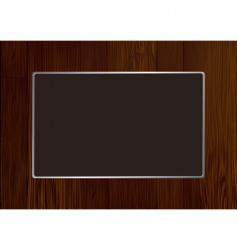 Wood frame vector