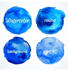 Round water color backgrounds vector