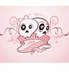 Girly skulls vector