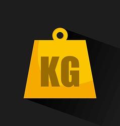 Kg design vector