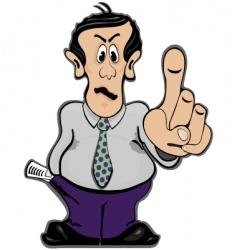 Man holding finger up vector