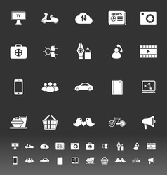 Social network icons on gray background vector