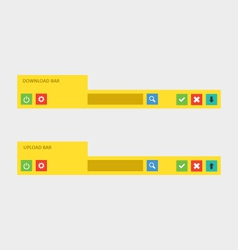 Download and upload bars content vector