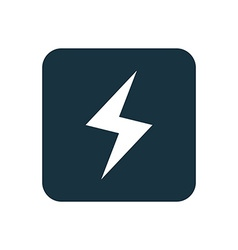 Lightning icon rounded squares button vector