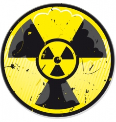 Grunge nuclear power sign vector