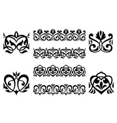 Ornamental elements vector