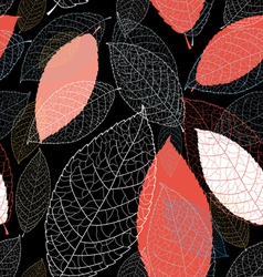 Pattern autumn leaves vector