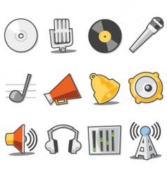 Music icons fresh collection vector