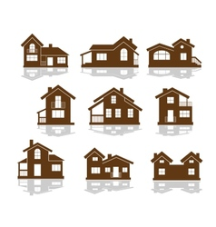 Set of apartment house icons vector