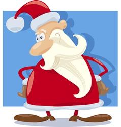 Santa claus character cartoon vector