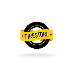 Tires store logo vector